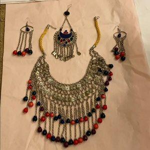 Jewelry - Afghanistan origin jewelry, multicolored 4 pc set